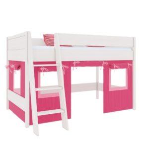 Декоративные шторы кровати-чердака Сиело красные