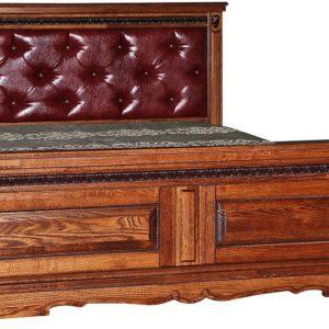 Кровать двойная «Милана» высокое изножье мягкая спинка