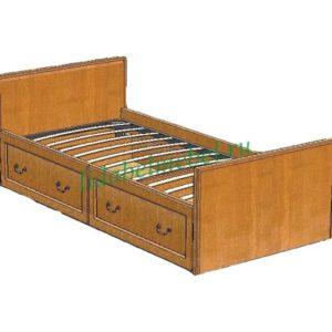 Кровать односпальная Вилия пр.ВМФ 5093 (900x1900)