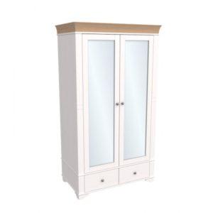 Шкаф 2х дверный с зеркальными дверями Бейли