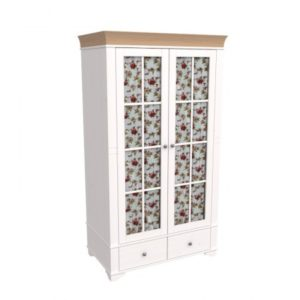 Шкаф 2х дверный со стеклянными дверями Бейли