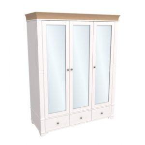 Шкаф 3х дверный с зеркальными дверями Бейли