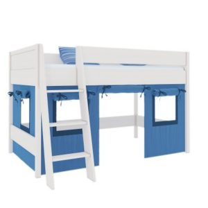 Декоративные шторы кровати-чердака Сиело синие