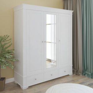 Шкаф 3х дверный с зеркалом Бейли
