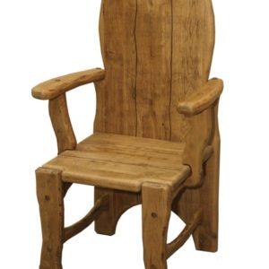 Кресло из дуба с подлокотниками К-1