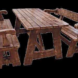Набор «Русь» (стол и 2 скамейки)